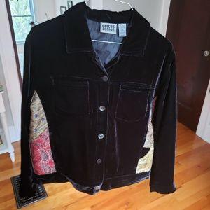Vintage Chico's velvet embellished jacket